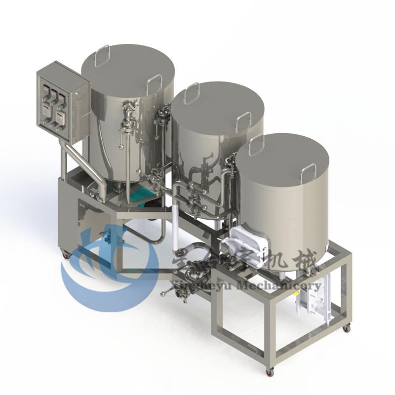 3器单层电加热家娘糖化设备