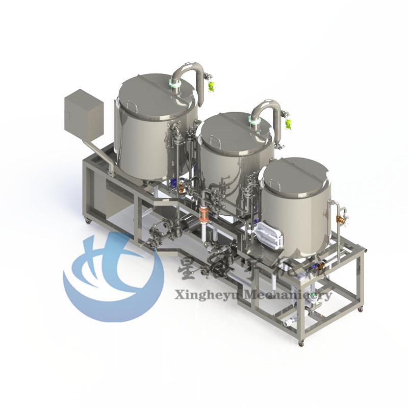3器蒸汽加热家酿糖化设备