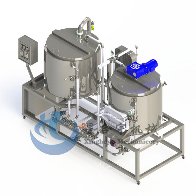 2器蒸汽加热家酿糖化设备